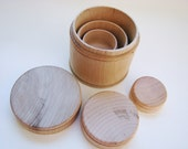 Nesting Canisters - Montessori and Waldorf inspired size relation toy