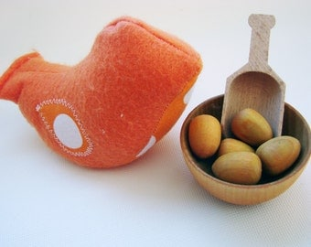 Chick-A-Dee Playset - Orange Edition - A Montessori and Waldorf Inspired Counting and Learning Toy