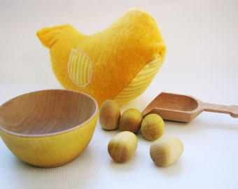Chick-A-Dee Playset - Yellow Edition - A Montessori and Waldorf Inspired Counting and Learning Toy