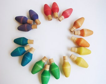 Colored Counting Lights - Montessori Waldorf inspired Math and Counting Toy