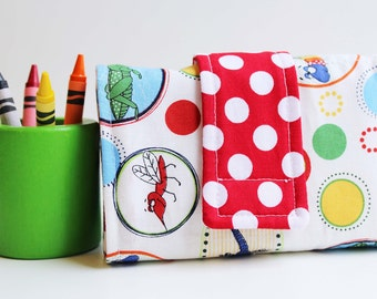 Crayon Wallet - Just Buggy Edition - A Montessori and Waldorf Inspired Travel Toy for Self Guided Art