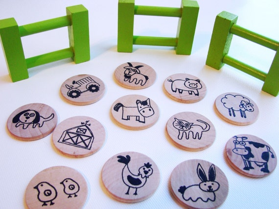 Make a Match - Farm Edition - A Montessori and Waldorf Inspired Matching and Memory Game
