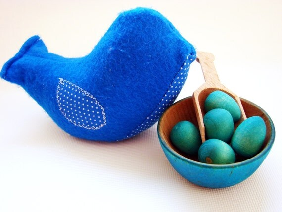 Chick-A-Dee Playset - Blue Edition - A Montessori and Waldorf Inspired Counting and Learning Toy