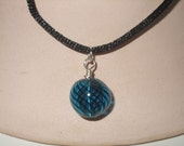 Blue Globe Necklace
