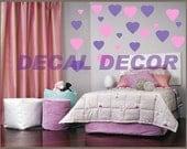 Vinyl Wall Art 216 HEARTS Vinyl Wall Decal Sticker Wall Decor Appliques Shapes love cupid childrens bedroom