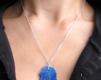 OCEANA- sterling silver and lapis pendant
