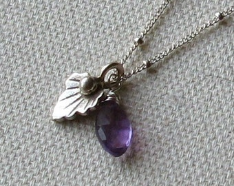 HANNAH- sterling silver and amethyst necklace