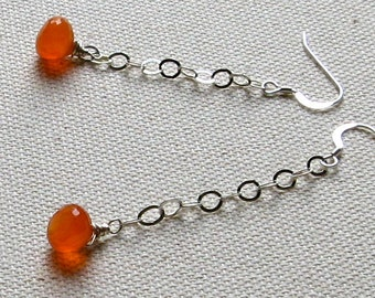 LOLA- sassy sterling silver and carnelian earrings