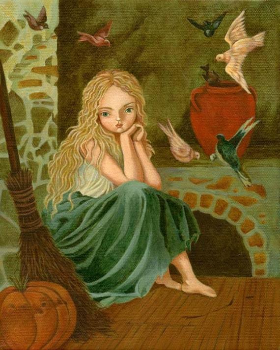 Cinderella Print 8x10 - Children's Art, Girls Room Art, Fairytale Art, Poster, Girl Art Print, Girls Decor, Art for Girls, Art for Kids