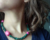 UPCYCLED- Spring Bloom necklace with vintage beads