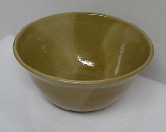 Sandy Beige Porcelain Serving Bowl