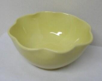Sunny Yellow Porcelain Flower Bowl