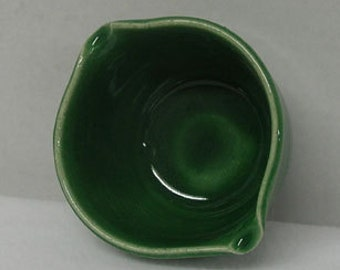 Small Grass Green Porcelain Mixing or Rice Bowl