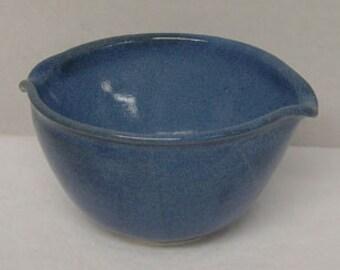Medium Denim Blue Porcelain Mixing or Rice Bowl