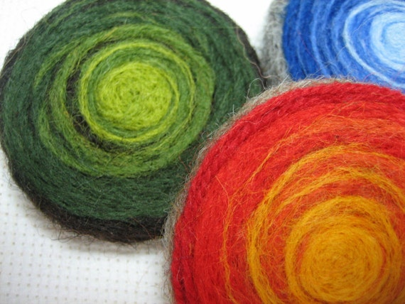 """Felted Wool Brooches: """"Lollypop"""" Muttons"""