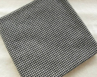 Felted Fat Quarter Yard in a Black Houndstooth