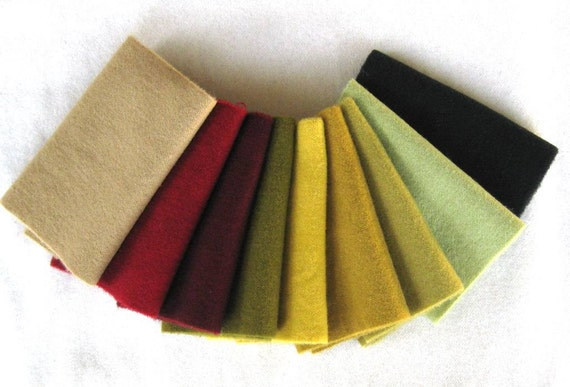 Hand Dyed Felted Wool in a Beautiful Collection of Colors a Perfect Rug Hooking Wool 1995