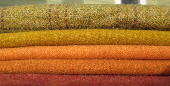 Hand Dyed Felted Wool in a Beautiful Fall Blend Combination Number 78