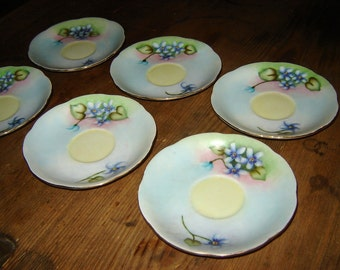 floral china saucers, lovely and romantic