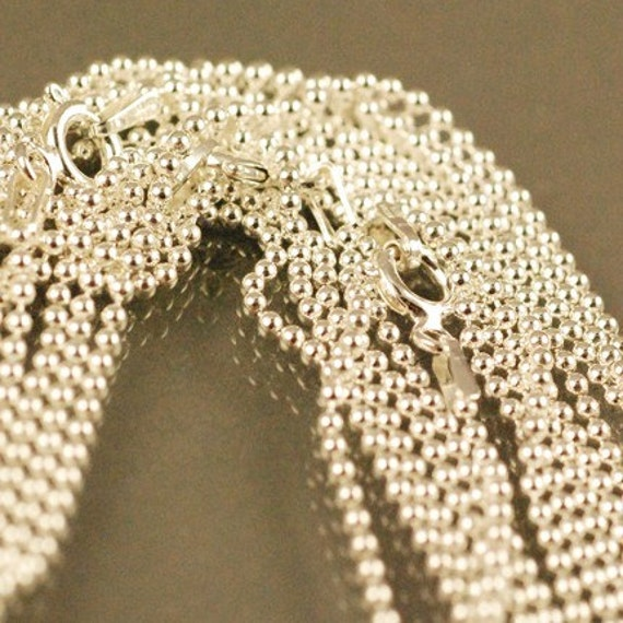 """18"""" Sterling Silver ball chain - 1.5mm - For PENDANTS and CHARMS"""