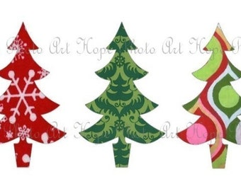 Oh Christmas Tree 2x3 Tags Digital Collage Sheet - greeting cards postcard ATC ACEO - U Print 300dpi jpg