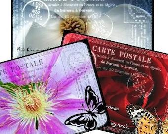 Carte Postale Botanical Fine Art Print Tags 2.5x3.5 Digital Collage Sheet - greeting cards postcard ATC ACEO - U Print 300 dpi jpg sh92