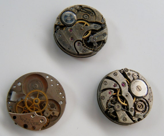 Watch Movements for Steampunk Projects (set4)
