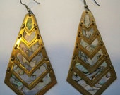Vintage Mother of Pearl Earrings from Mexico