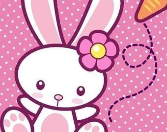 0087 Printable PDF-Kawaii Bunny Stationery Set