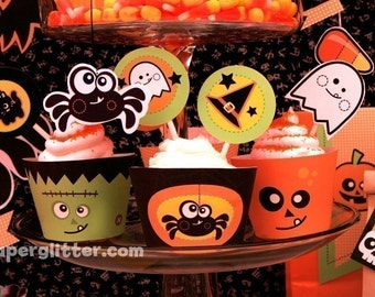 0002 Halloween Party Kit- EDITABLE TEXT Printable PDF Special price this weekend only