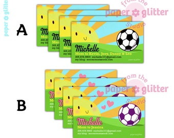 Mom Calling Card - Japanese Kawaii Soccer Mom
