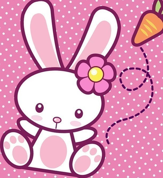 0087 Printable PDF-Kawaii Bunny Stationery Set