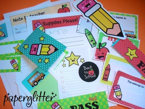 Back to School or Classroom Teacher Student Kit-Printable PDF 0068