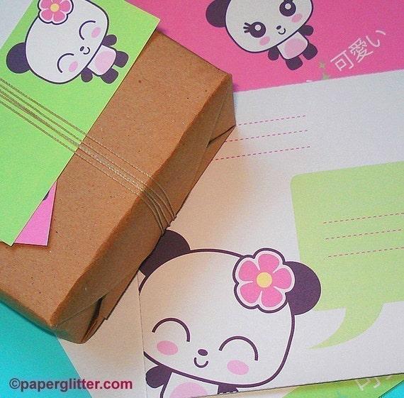 Panda Kawaii Stationery Set  - Printable PDF 0061