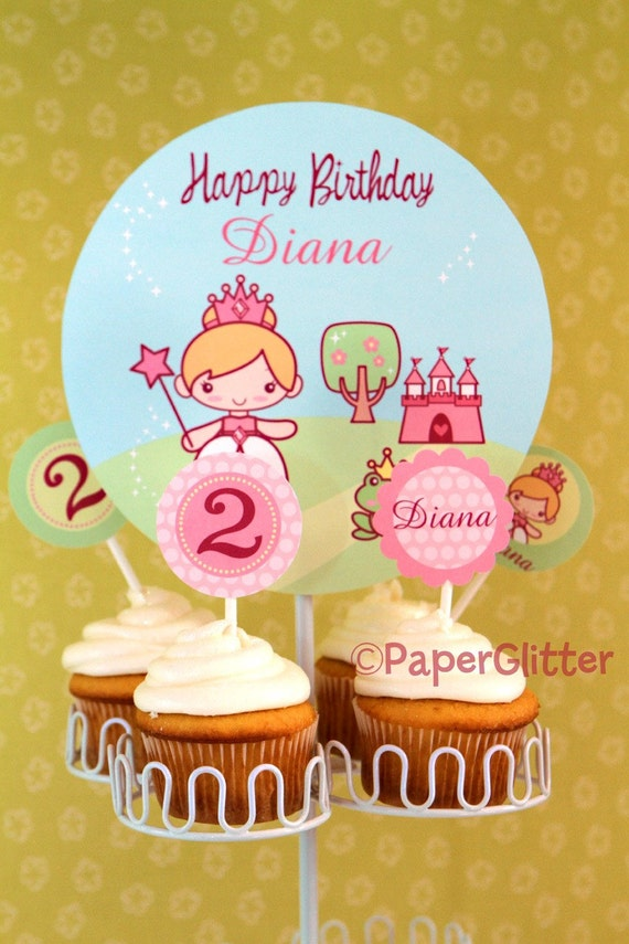 BIRTHDAY Princess Deluxe Personalized Party Kit-Printable PDF Complete Set