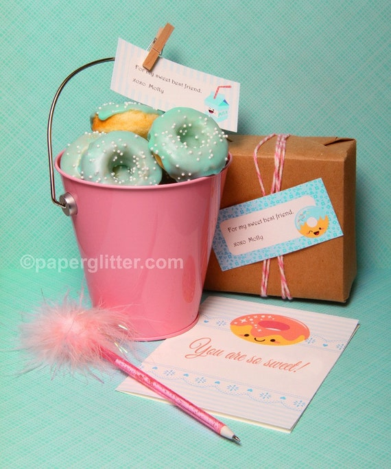 Donut Stationery Text with Editable Text Feature-You type in the text to personalize 0055