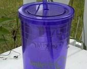 Smile FM Purple Straw Tumbler - 32 oz
