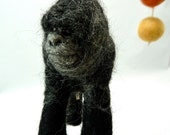 Gorilla Baby Mobile, Wool Felted Mobile, 3 Figures, Made to Order