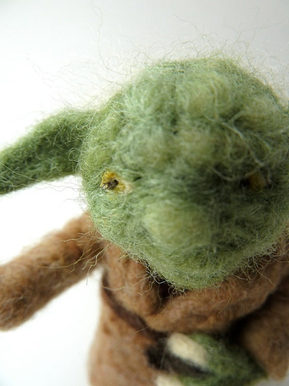 Yoda, Felted Yoda STAR WARS Character Made to Order