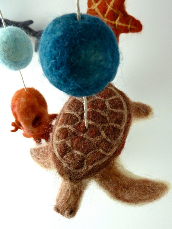 Baby Mobile Hammerhead Shark Octopus Sea Turtle Star Fish