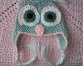 Crochet Owl Animal Hat, Cap, Beanie for Infant toddler or Adult photo prop