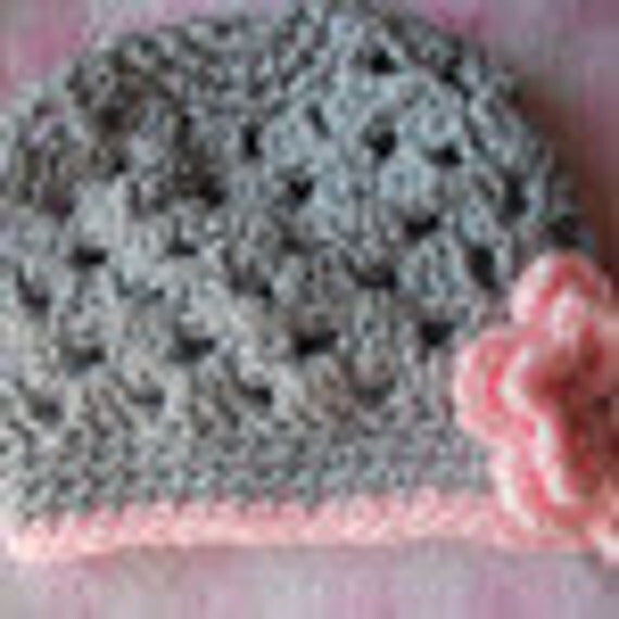 Spring Girl Hat Open Weave Hat with flower nb to 10 years