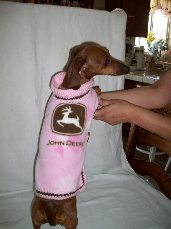 Pink John Deere dog sweater /coat/ Jacket