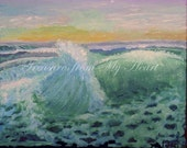 Original Fine Art Painting Ocean Waves