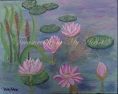 Original Fine Art Painting  The Lily Pond