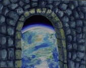 Original Fine Art Painting Ancient Portal