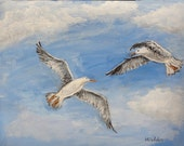Original Painting Seagulls
