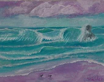 Original Fine Art  Painting Seacoast Dawn