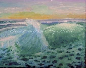 Original Fine Art Painting Ocean Waves