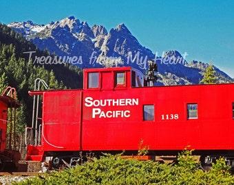 Original Photo Crags and Railroad Car
